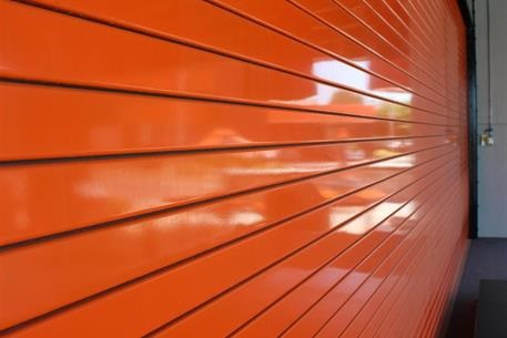steel doors orange-service-door-slats