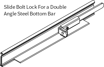 SLIDE BOLT ASSEMBLY - DOUBLE ANGLE BOTTOM BAR