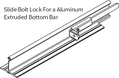 SLIDE BOLT ASSEMBLY - STD BOTTOM BAR